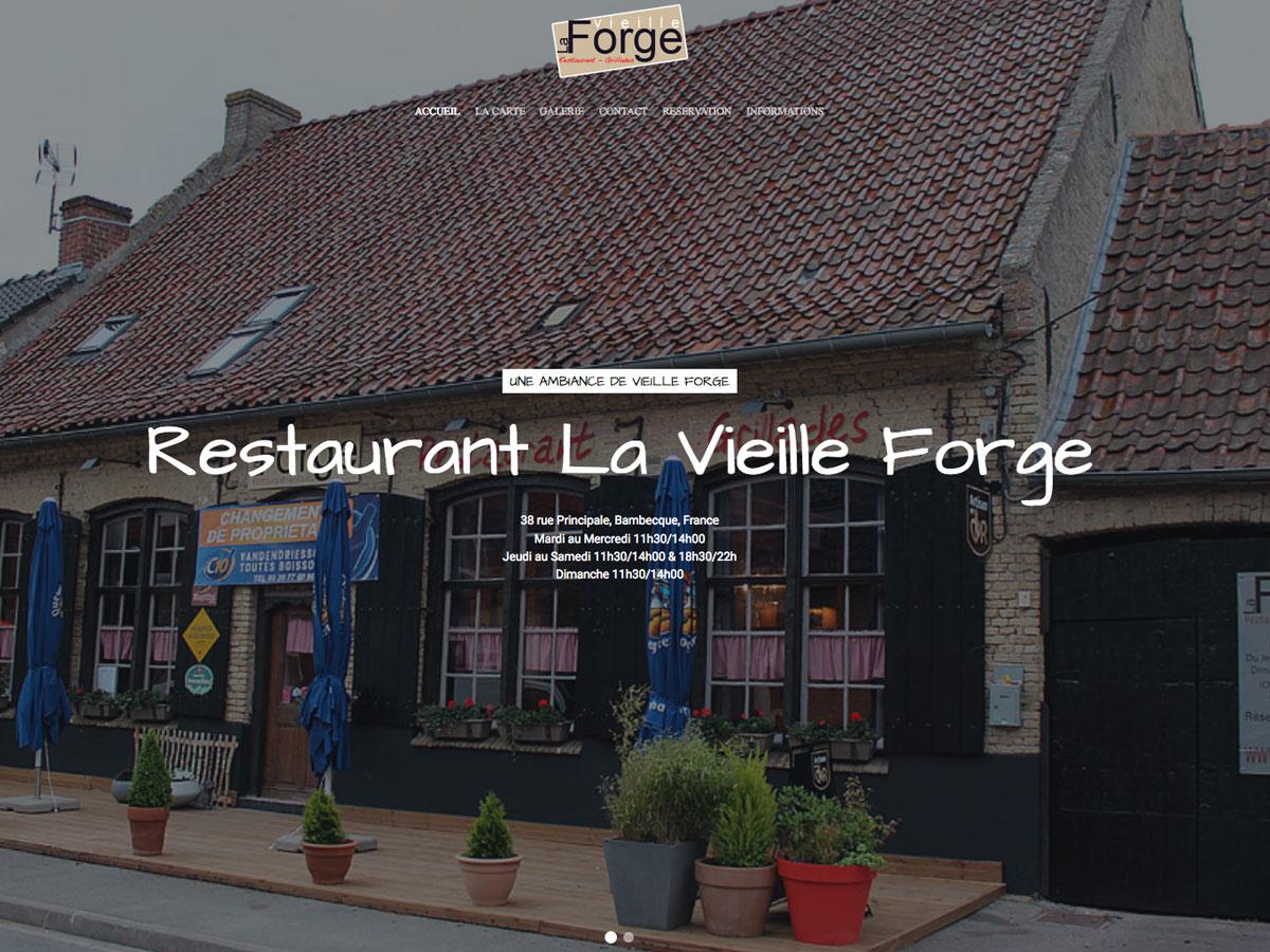 site web restaurant. Black Bedroom Furniture Sets. Home Design Ideas